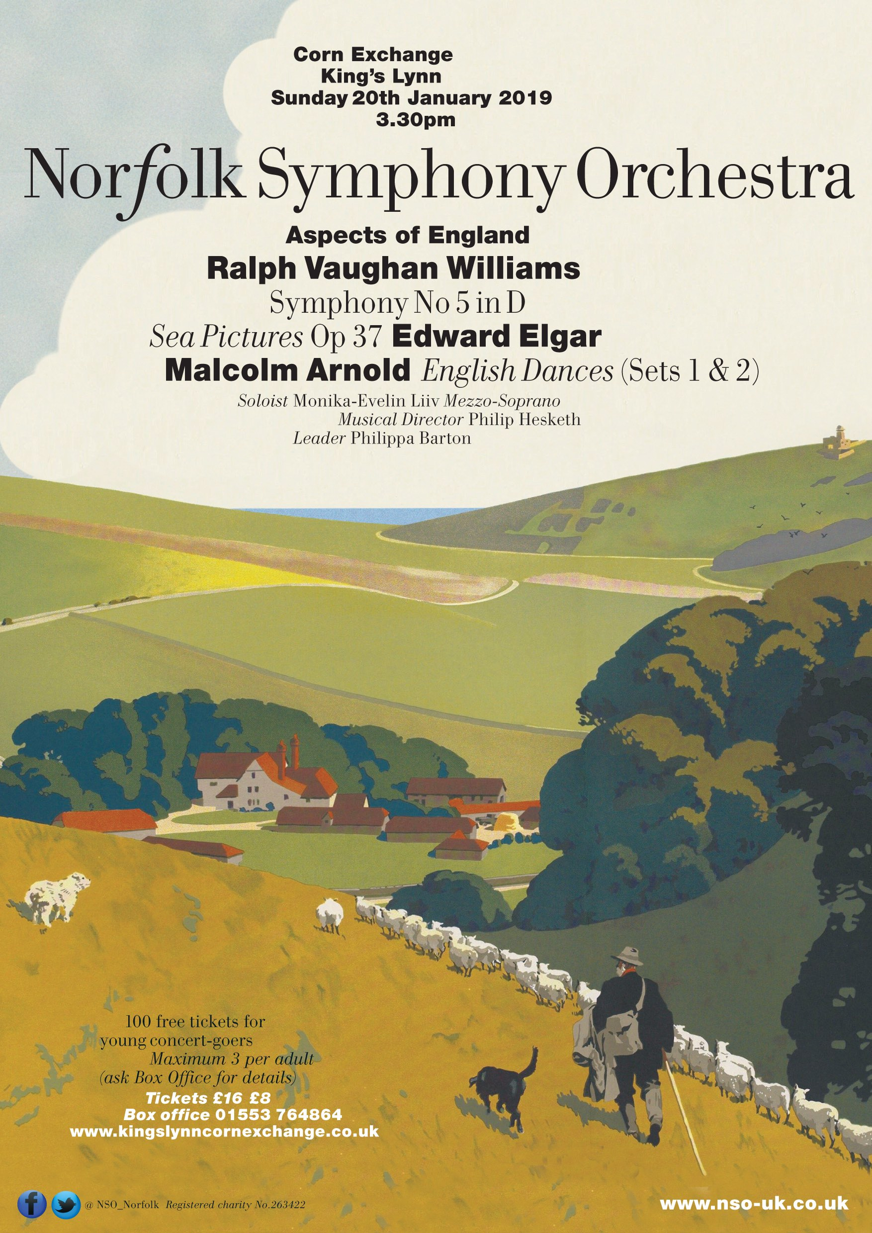Norfolk Symphony Orchestra | Aspects of England, Our vision of England has many faces and this music seeks to express them. In this programme we play quintessentially English music by three composers, each from a different generation: Elgar, Vaughan Williams and Malcolm Arnold | Corn Exchange King�s Lynn, Tuesday Market Place,  PE30 1JW