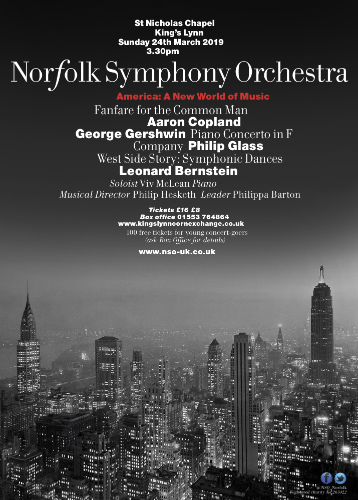 NSO Concert - America, St Nicholas Chapel | A New World of Music by the Norfolk Symphony Orchestra | Concert, classical